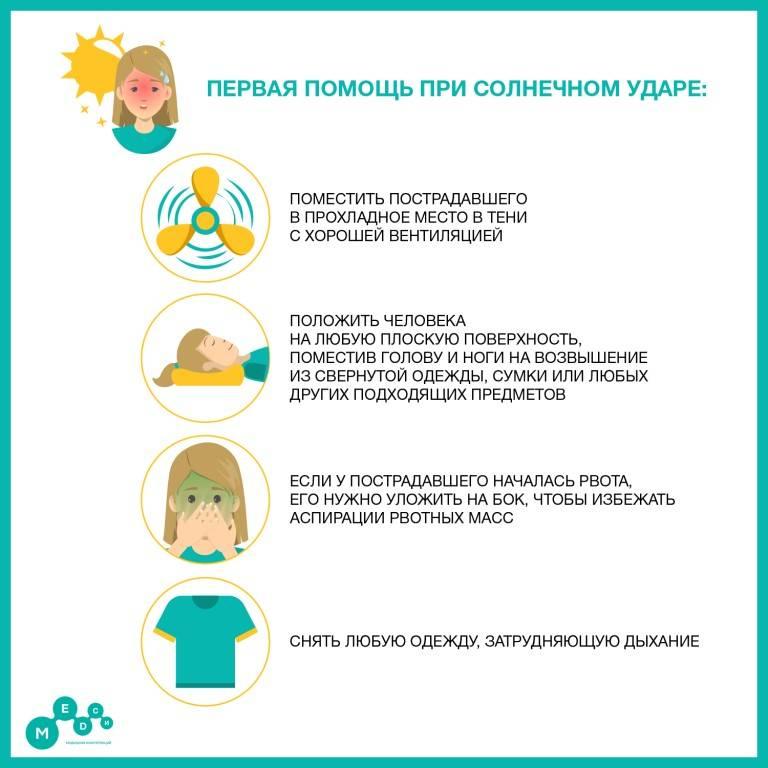 Солнечный удар: симптомы и первая помощь - блог напоправку