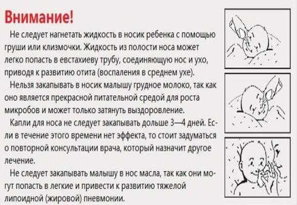 Правила закапывания капель в носик новорожденному особенности процедуры