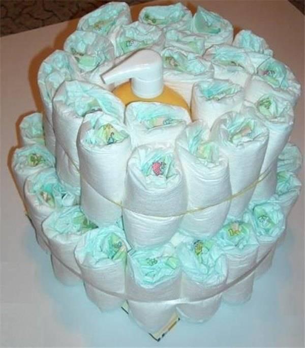 Как сделать торт из памперсов своими руками: пошаговые фото и видео