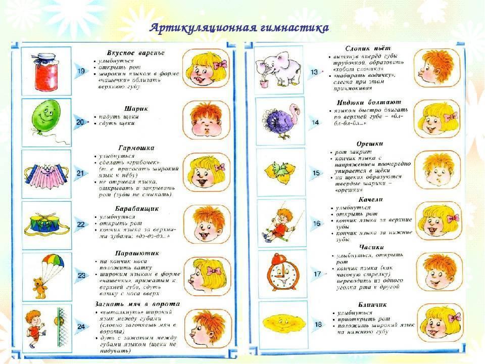 Артикуляционная гимнастика для детей 2-3 лет
