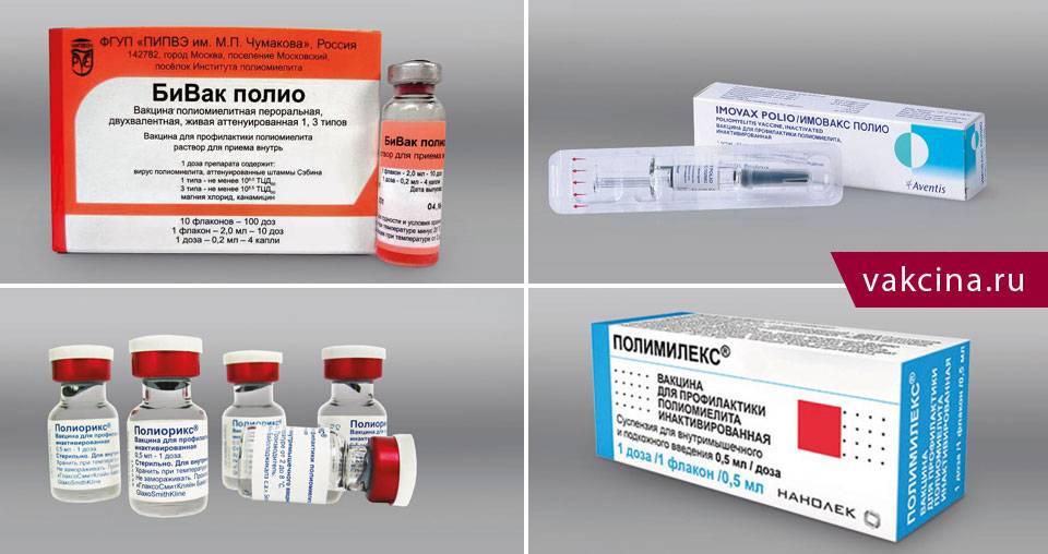 Прививка от полиомиелита: показания и график вакцинации