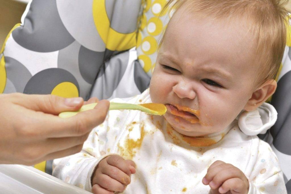 Ребенок не хочет есть прикорм в 7, 8, 9, 10 месяцев: что делать, комаровский