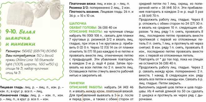 Подборка схем и описаний для вязания спицами пинеток сапожек