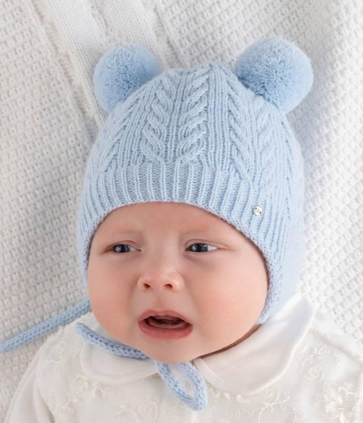 Шапочка или чепчик для новорожденного спицами: схемы с описанием