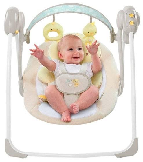 Электронные качели для новорожденных до года: электролюлька, электрокачалка