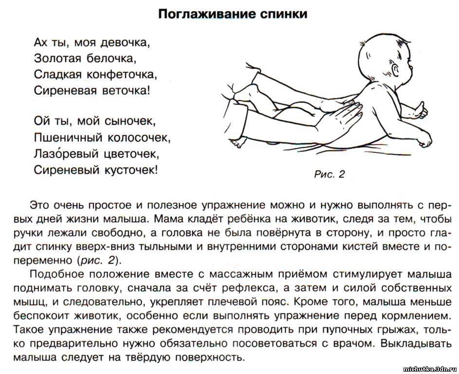Массаж для грудничка в домашних условиях