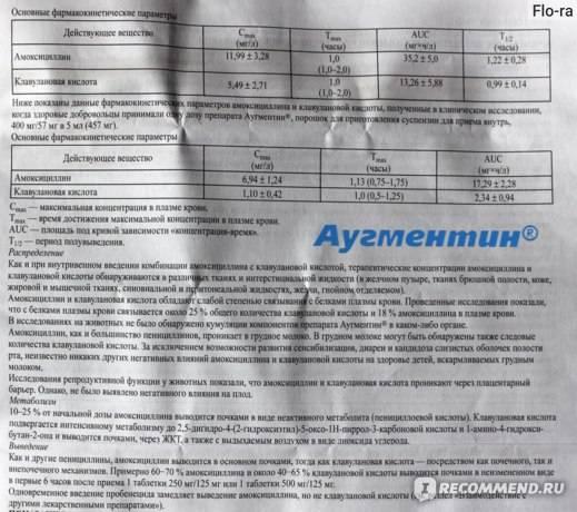 Аугментин в порошке — инструкция по применению | справочник лекарственных препаратов medum.ru