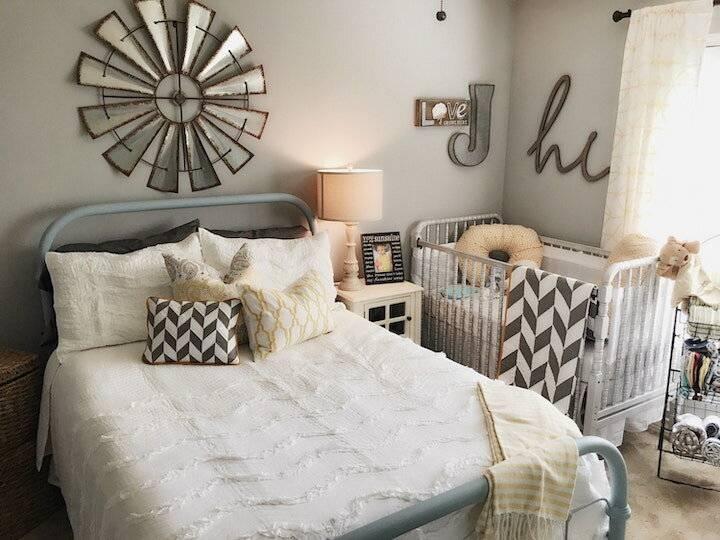 Как совместить спальню и детскую в одной комнате?