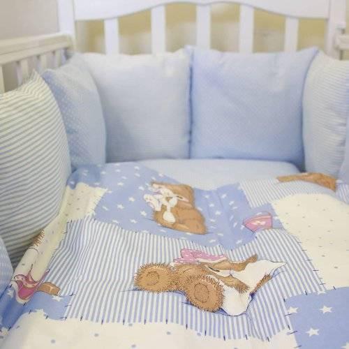 Купить комплекты (наборы) для новорожденных в детскую кроватку в интернет-магазине: с бортиками и подушками, 7 и более предметов - maranis