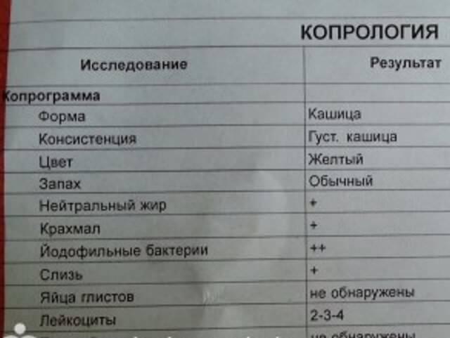 Что показывает копрограмма кала у ребенка до года, расшифровка анализа