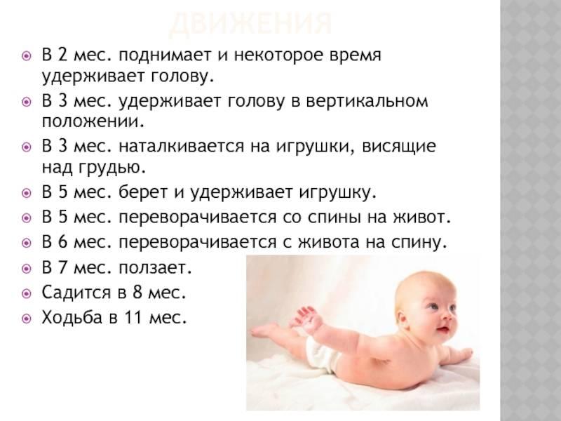 Когда ребенок начинает держать голову самостоятельно