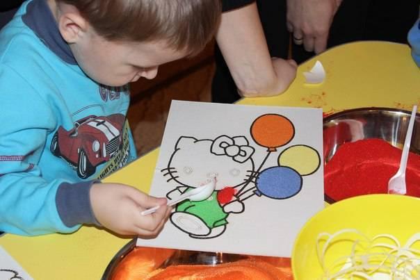 Конспект занятия в старшей группе с использованием нетрадиционной техники рисования цветным песком «аквариум». воспитателям детских садов, школьным учителям и педагогам - маам.ру