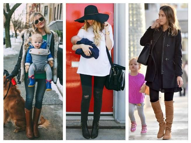 Стильная мамочка: 6 модных образов для прогулок с малышом