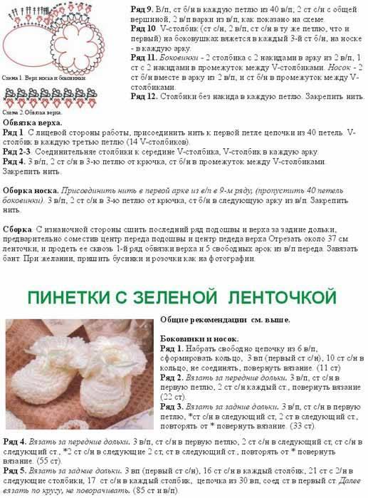 Вязание пинеток спицами: пошаговая инструкция для начинающих и варианты украшения пинеток