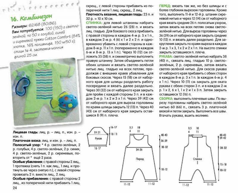 Вязаный комбинезон спицами для ребенка: схема и описание вязания