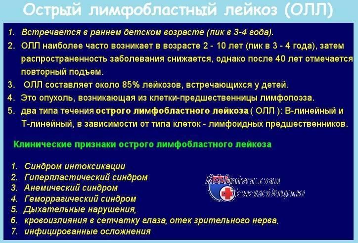 Рецидив острого лимфобластного лейкоза (олл) у детей и подростков - вместе
