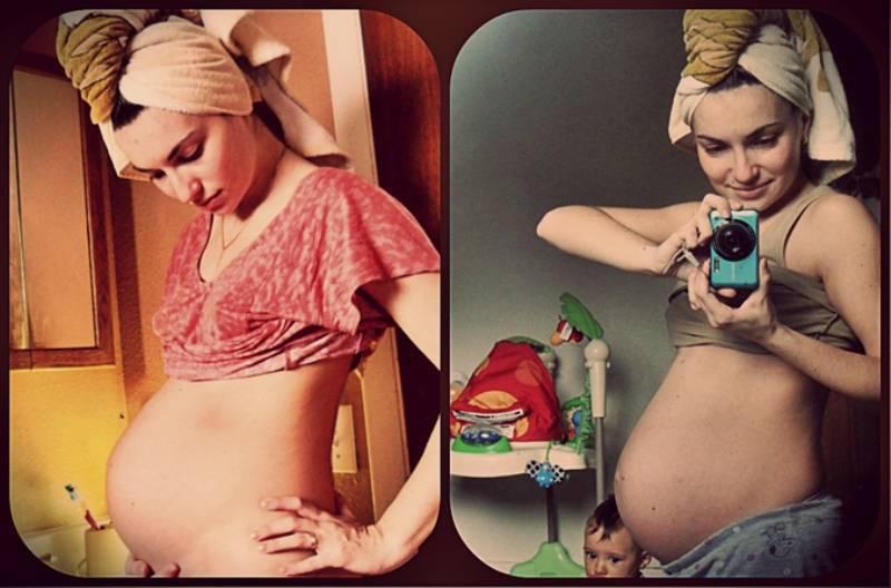 Когда рожать если опустился живот