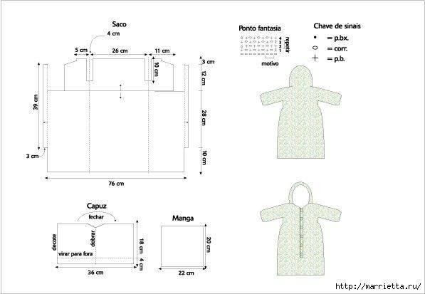 Зимний конверт для новорожденного вязаный спицами (схема)