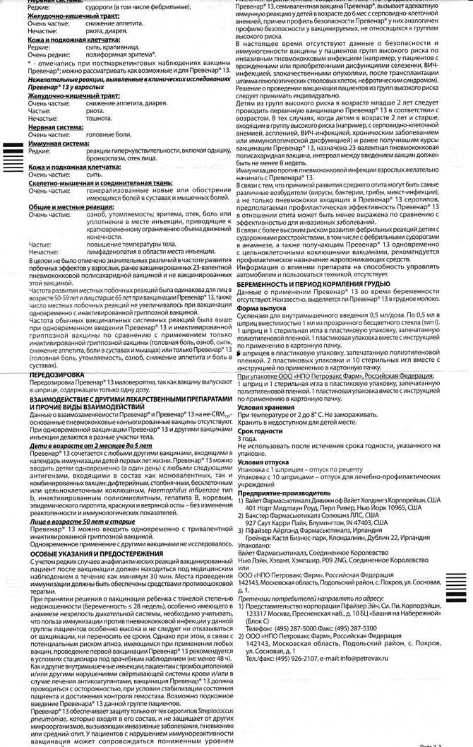 Вакцинация против пневмококковой инфекции: вопросы и ответы.