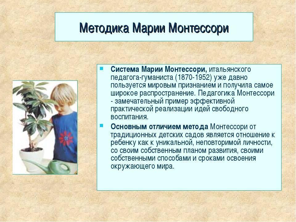 Методика раннего развития марии монтессори - принципы системы