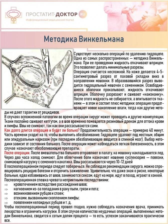 Операция бергмана и винкельмана при водянке яичка   оперативная андрология   врач-уролог, андролог фатеев д. м.