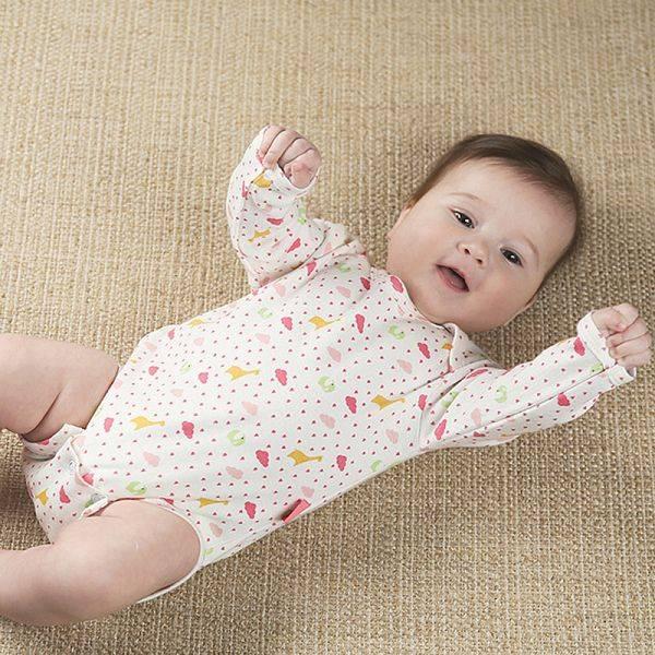 Боди для новорожденных малышей — мальчика и девочки