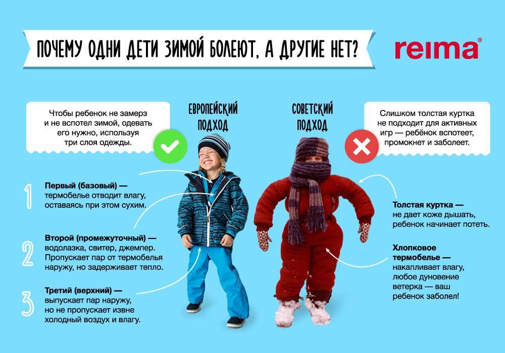 До скольки градусов можно гулять с ребенком до года зимой