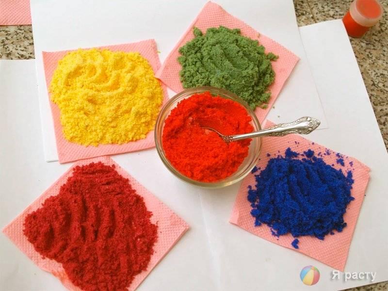 Цветной песок своими руками: из песка, манки или соли