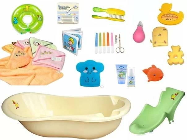 Приспособления для купания новорожденных в большой ванне