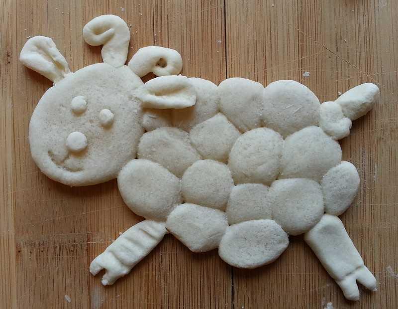 Соленое тесто для детей для лепки, простые рецепты, пошаговые фото