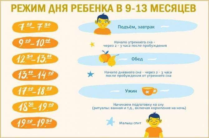 Режим ребенка в 10 месяцев: преимущества старого-нового распорядка