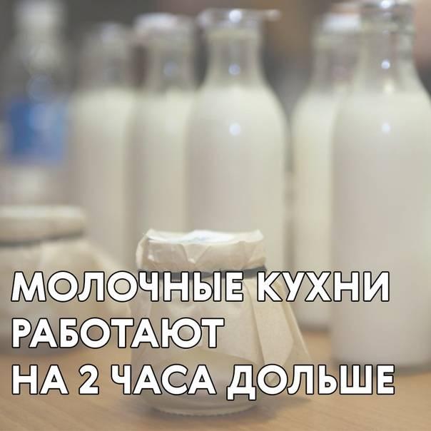 Документы на молочную кухню 2021 москва