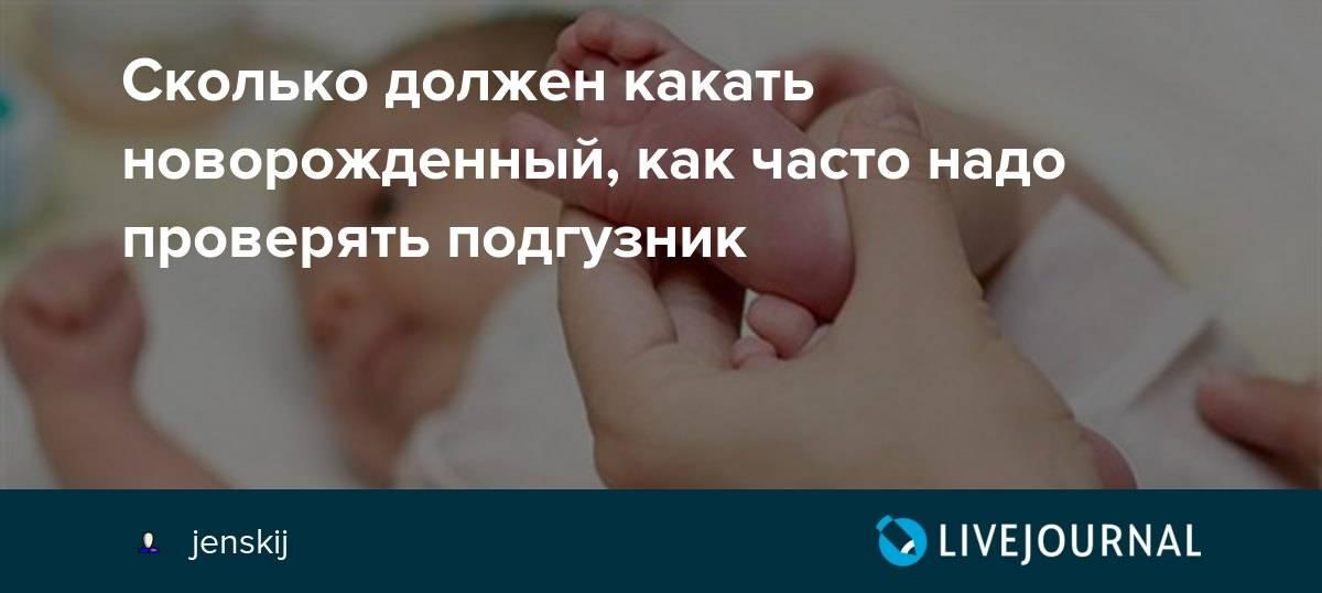 Сколько раз должен какать новорожденный в 1,2,3,4-6 месяцев