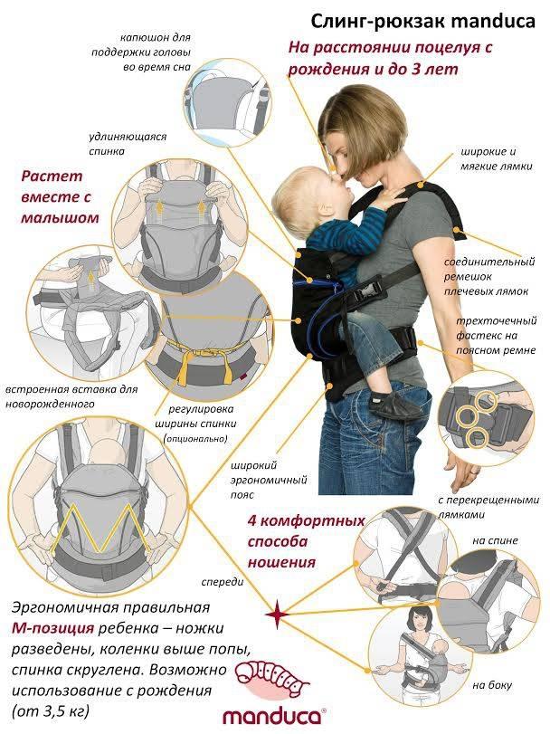 Нюансы выбора эрго рюкзака для малышей от 0 до 3 лет