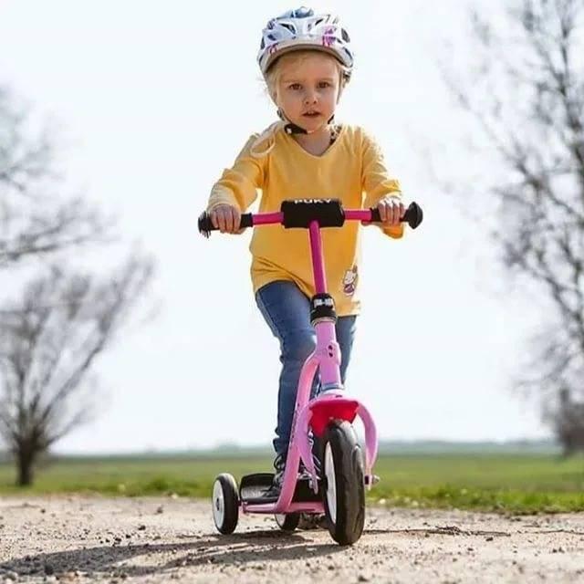Учим ребенка кататься на двухколесном велосипеде