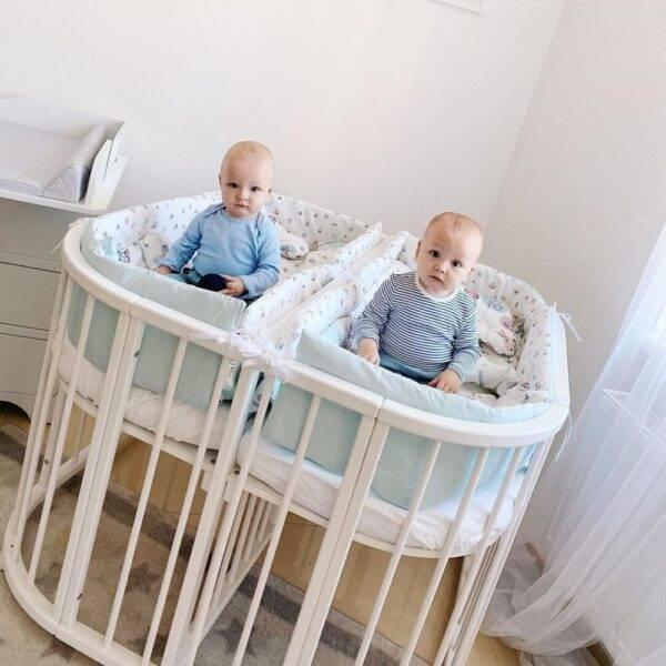 Кроватки для новорожденных двойняшек: критерии выбора