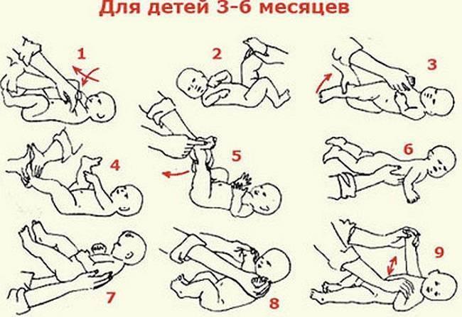 Массаж новорожденному от 3 до 6 месяцев в домашних условиях