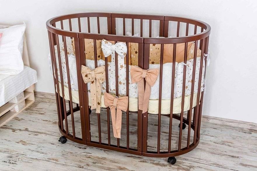 Круглая кроватка-трансформер для новорождённых: для тех, кто ценит комфорт и многофункциональность