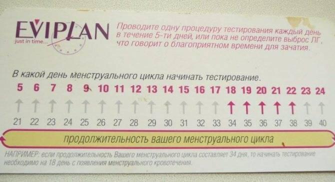 Календарь овуляции для расчета благоприятных дней зачатия ребенка