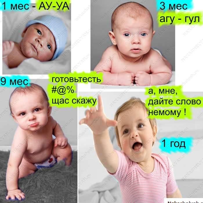 Когда дети начинают агукать? во сколько месяцев грудничок начинает агукает, в каком возрасте и как его учить агукать