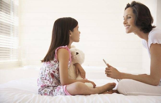 Первые разъяснения девочкам про менструацию