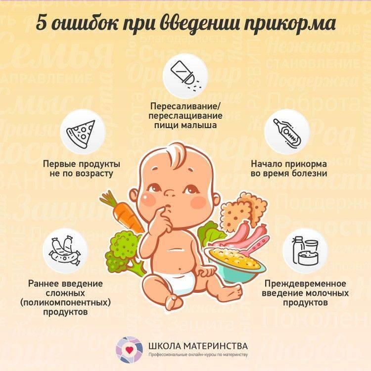Как и когда кормить пятимесячного ребёнка