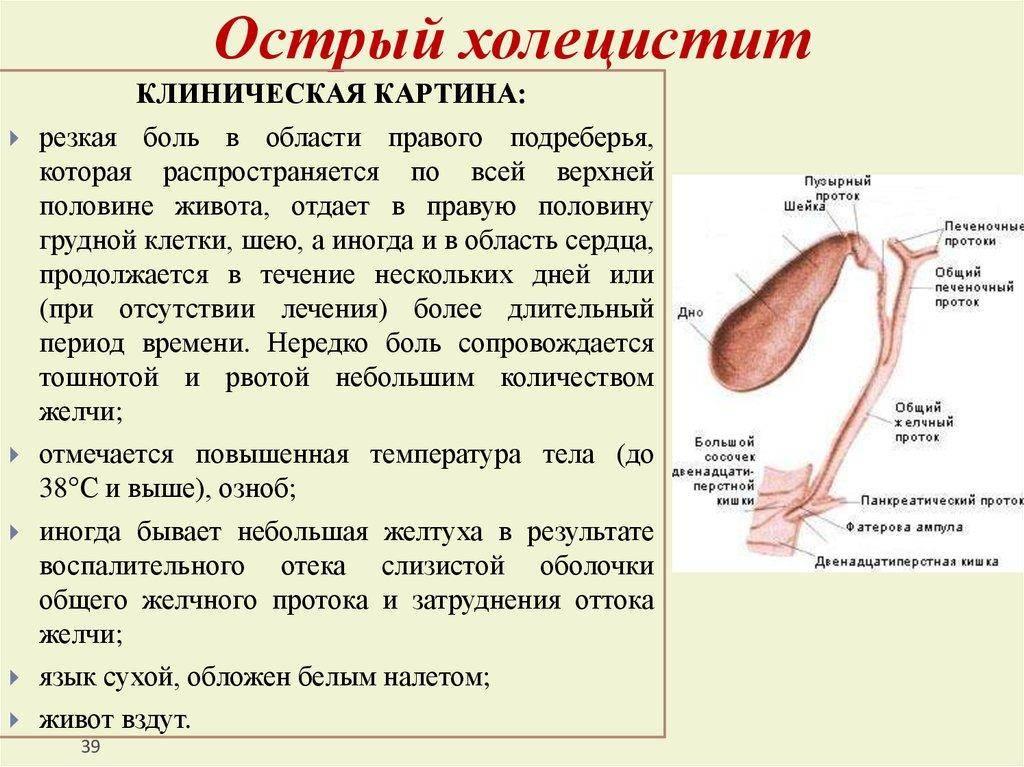 Что такое желчная колика, как болит желчный пузырь? прочитайте про симптомы камней в желчном пузыре. когда обращаться к врачу? – напоправку