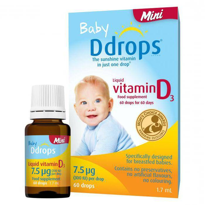 Сколько капель витамина д давать ребенку