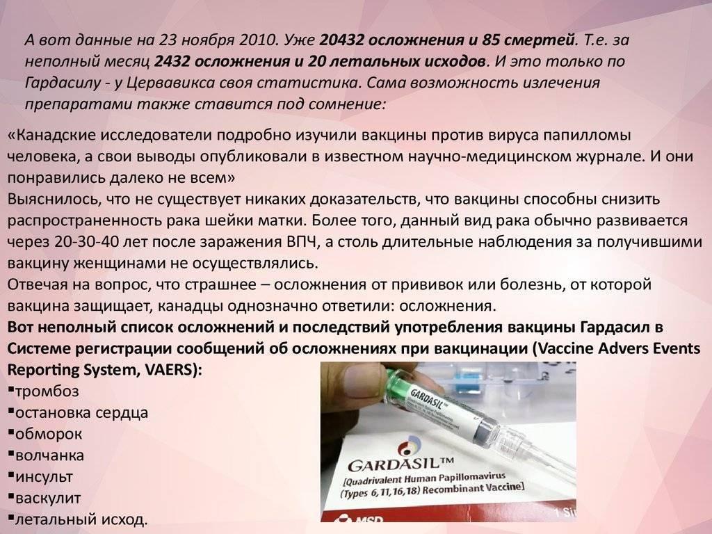 Вакцинация от вируса папилломы человека