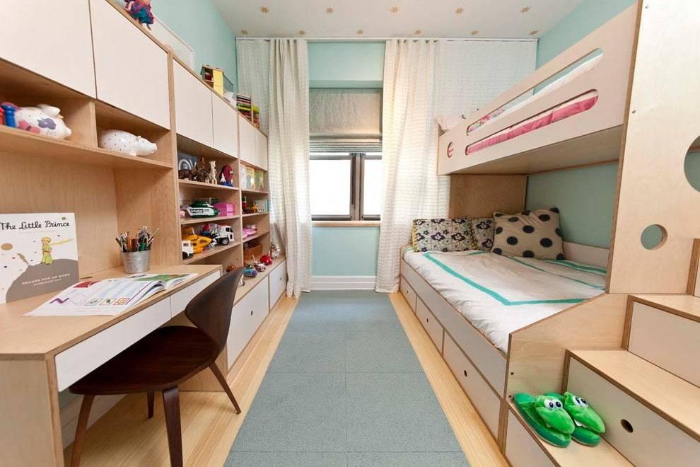 Детская комната для троих разнополых детей: дизайн для мальчишек и девочек  - 26 фото