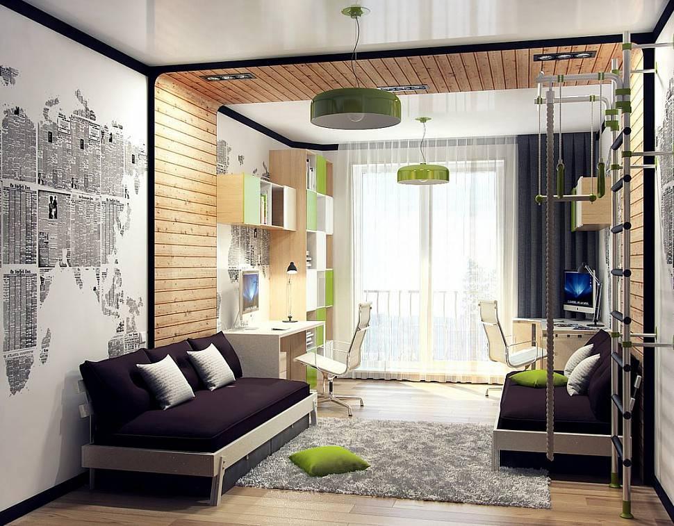 Гостиная и детская в одной комнате (72 фото): как совместить зал и детскую? зонирование шторами. дизайн комнат 18-20 кв. метров и других размеров