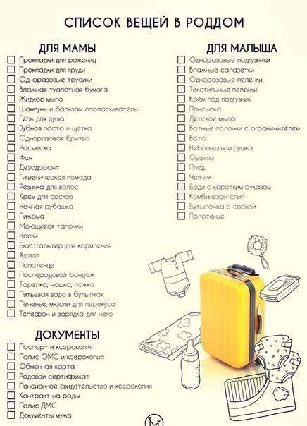 Сумка в роддом: список вещей, которые нужно взять | необходимые вещи в роддом для мамы и ребенка