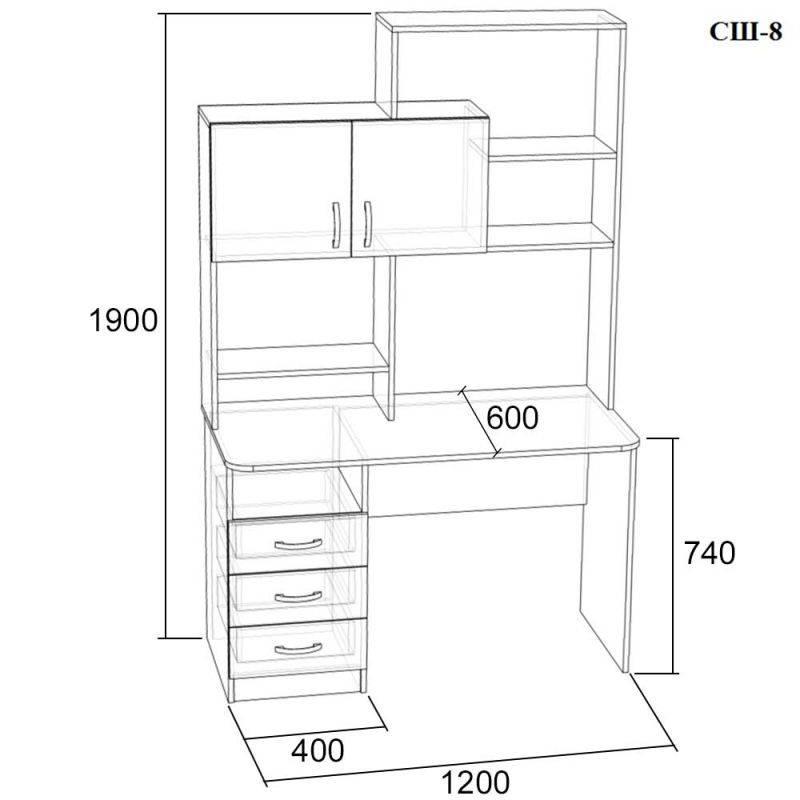 Маленький письменный стол: компактные небольшие изделия для дома, мини варианты в комнату малогабаритных размеров
