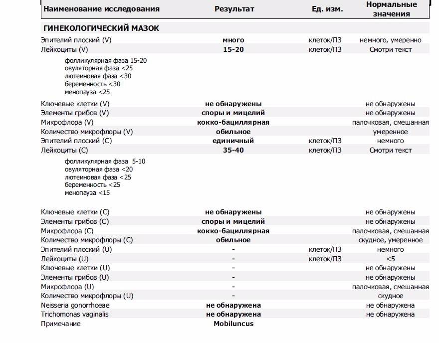 Норма лейкоцитов в мазке на флору у женщин на ранних и поздних сроках беременности